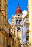 Πόλης σύμβολο και ορόσημο της Κέρκυρας Ο παλαιός πύργος ρολογιών Στοκ φωτογραφία με δικαίωμα ελεύθερης χρήσης