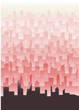 Πόλης ταπετσαρία Littlt απεικόνιση αποθεμάτων
