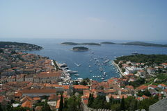 Πόλης τοπίο/τοπίο στην Κροατία Στοκ Εικόνες