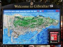 Πόλης χάρτης του Γιβραλτάρ Στοκ Φωτογραφία