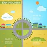 Πόλης infographics Στοκ Εικόνες