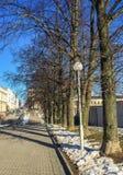 πόλη †‹â€ ‹σε αναμονή για την άνοιξη Στοκ Εικόνες