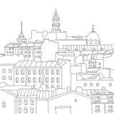 Πόλη Αγία Πετρούπολη διάνυσμα Στοκ Εικόνες