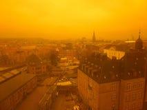 Πόλη από την εναέρια άποψη Στοκ εικόνες με δικαίωμα ελεύθερης χρήσης