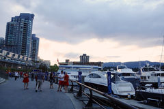 πόλη Βανκούβερ του Καναδ Στοκ εικόνα με δικαίωμα ελεύθερης χρήσης