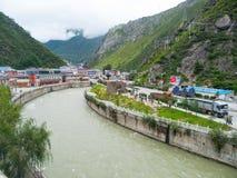 Πόλη βουνών Kangding Sichuan στοκ φωτογραφία