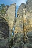 Πόλη βράχου Teplice - Δημοκρατία της Τσεχίας Στοκ φωτογραφία με δικαίωμα ελεύθερης χρήσης