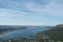 Πόλη βόρεια του αρτικού κύκλου Στοκ Εικόνες