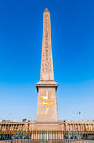 Πόλη Γαλλία οβελίσκων place de Λα concorde Παρίσι Στοκ Φωτογραφία