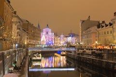 πόλη εορταστική Στοκ εικόνα με δικαίωμα ελεύθερης χρήσης