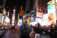 Χρονικό τετράγωνο τη νύχτα στοκ εικόνες με δικαίωμα ελεύθερης χρήσης