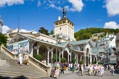 Πόλη Κάρλοβυ Βάρυ, Τσεχία, Ευρώπη SPA Στοκ φωτογραφία με δικαίωμα ελεύθερης χρήσης