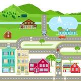 Πόλη και επαρχία στοκ εικόνες