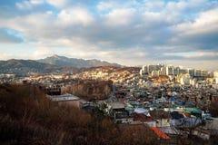 Πόλη και φύση της Σεούλ στοκ φωτογραφίες
