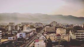Πόλη και Doi Suthep Chiangmai Στοκ φωτογραφίες με δικαίωμα ελεύθερης χρήσης