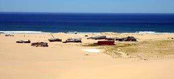 Πόλη κασσίτερου στην παραλία Stockton Στοκ φωτογραφίες με δικαίωμα ελεύθερης χρήσης