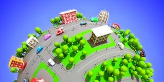 πόλη κινούμενων σχεδίων Στοκ εικόνα με δικαίωμα ελεύθερης χρήσης