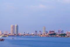Πόλη κτηρίου και ποταμών, Μπανγκόκ Στοκ φωτογραφία με δικαίωμα ελεύθερης χρήσης