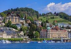 Πόλη Λουκέρνης στην Ελβετία στην άνοιξη Στοκ Εικόνες
