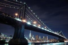 πόλη Μανχάτταν Νέα Υόρκη γεφ&upsil Στοκ Φωτογραφίες