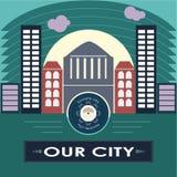 πόλη μας Στοκ Εικόνες