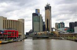 πόλη Μελβούρνη της Αυστραλίας Στοκ Φωτογραφία