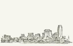πόλη Νέα Υόρκη Διανυσματικό σκίτσο Στοκ Φωτογραφίες