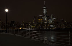πόλη Νέα Υόρκη Manhattam νύχτα Στοκ Εικόνα
