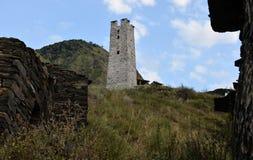 πόλη νεκρή Τσετσένια Δημοκρατία Περιοχή itum-Kale Το φαράγγι Argun Ρωσία Στοκ εικόνα με δικαίωμα ελεύθερης χρήσης