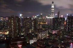 Πόλη νύχτας Shenzhen scape Στοκ φωτογραφίες με δικαίωμα ελεύθερης χρήσης