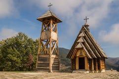 Πόλη ξυλείας στη Σερβία στοκ εικόνες