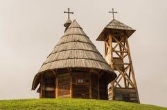 Πόλη ξυλείας στη Σερβία στοκ φωτογραφίες