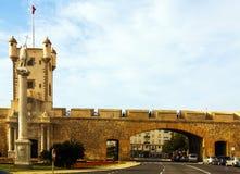 Πόλη ονομασμένο πύλη Las Puertas de Tierra Καντίζ Στοκ εικόνες με δικαίωμα ελεύθερης χρήσης