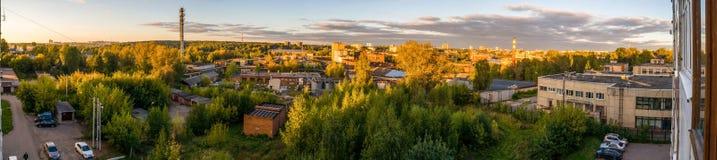 πόλη πανοράματος 360 στη θερινή ημέρα Στοκ Εικόνες