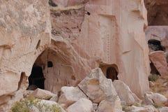 Πόλη σπηλιών Ortahisar σε Cappadocia - τοπίο, Τουρκία Στοκ φωτογραφία με δικαίωμα ελεύθερης χρήσης
