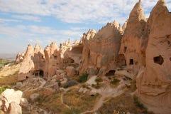 Πόλη σπηλιών Ortahisar σε Cappadocia - τοπίο, Τουρκία Στοκ εικόνες με δικαίωμα ελεύθερης χρήσης
