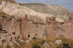 Πόλη σπηλιών Ortahisar σε Cappadocia - τοπίο, Τουρκία στοκ εικόνα