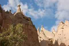 Πόλη σπηλιών Ortahisar σε Cappadocia - τοπίο, Τουρκία Στοκ Φωτογραφίες