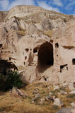 Πόλη σπηλιών Ortahisar σε Cappadocia - τοπίο, Τουρκία Στοκ Εικόνες