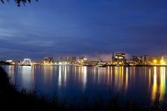 Πόλη στην πυρκαγιά Στοκ Φωτογραφίες