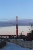 Πόλη στον καπνό Στοκ Φωτογραφίες
