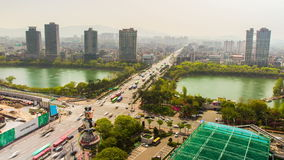 Πόλη στο κέντρο της πόλης Jamsil της Σεούλ απόθεμα βίντεο