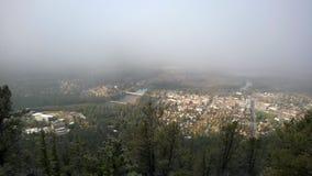 Πόλη της άποψης banff από το βουνό σηράγγων Στοκ εικόνες με δικαίωμα ελεύθερης χρήσης