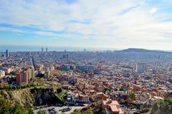 Πόλη της Βαρκελώνης, Καταλωνία Στοκ Εικόνες