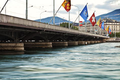 Πόλη της Γενεύης στην Ελβετία στοκ φωτογραφίες