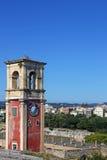 Πόλη της Κέρκυρας πύργων ρολογιών στοκ εικόνες