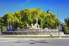 Πόλη της Μαδρίτης, πυροβολισμοί της Ισπανίας - ταξίδι Ευρώπη Στοκ Εικόνα