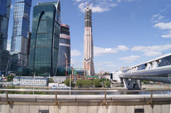 Πόλη της Μόσχας - ποταμός Μόσχα Στοκ εικόνα με δικαίωμα ελεύθερης χρήσης