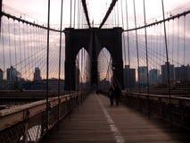 Πόλη της Νέας Υόρκης από τη γέφυρα του Μπρούκλιν Στοκ Φωτογραφία