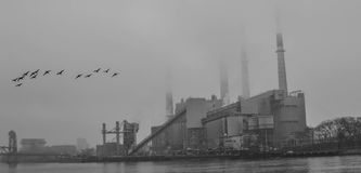 Πόλη της Νέας Υόρκης βιομηχανική Στοκ Εικόνα